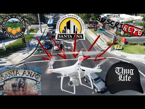 Gang Sings at my Drone. View Santa Ana california