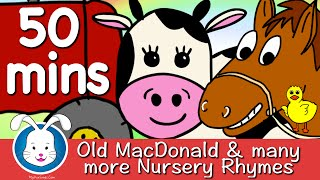 Repeat youtube video Old MacDonald Had A Farm & More Nursery Rhymes with lyrics
