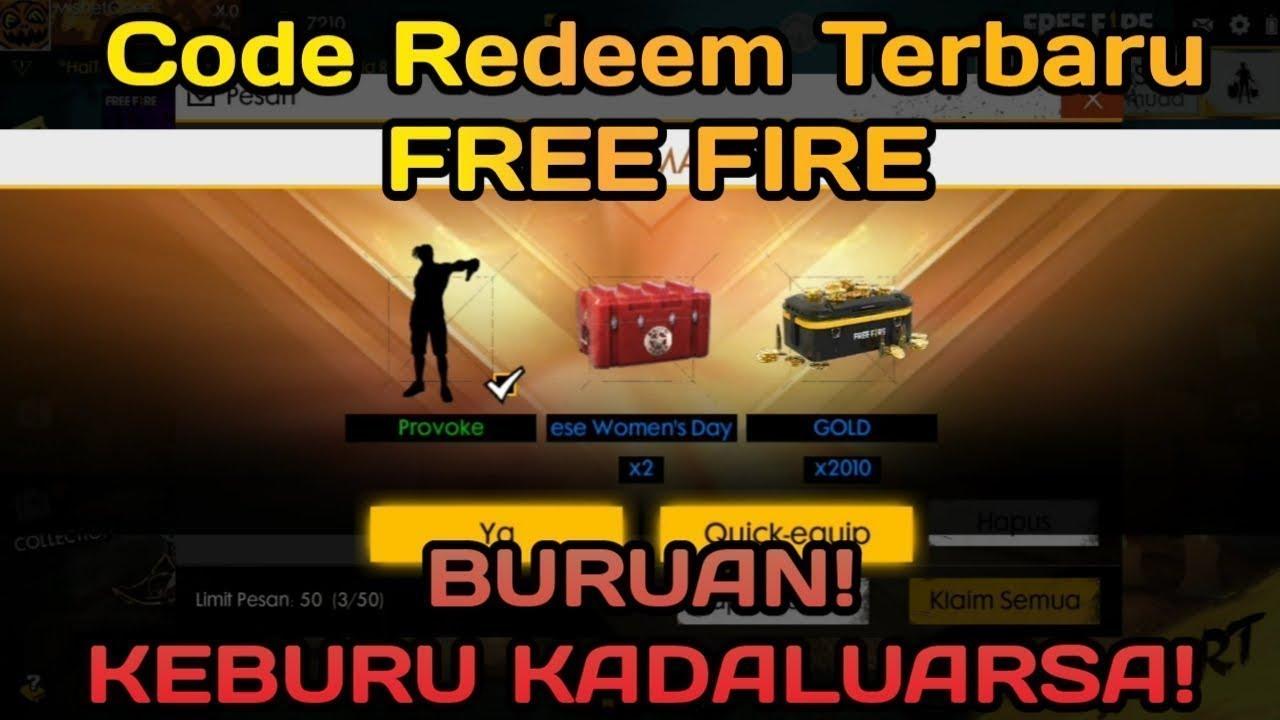 Redeem Code Terbaru! (WORK 100%) -Garena Free Fire ...