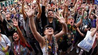 Bead Throwing Parade at Carnival Mardi Gras Fat Tuesday new orleans la nola 2016