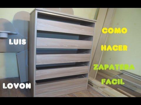 Como hacer un ropero o closet de mdf facil doovi - Como hacer un armario zapatero ...