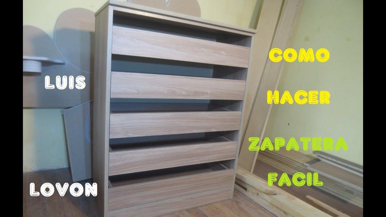 Como hacer zapatera de melamina paso a paso mueble luis for Como hacer una zapatera de madera sencilla
