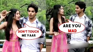 Jhanvi Kapoor Gets Angry On BF Ishaan Khatter As He Try To Get Cozy Publicly
