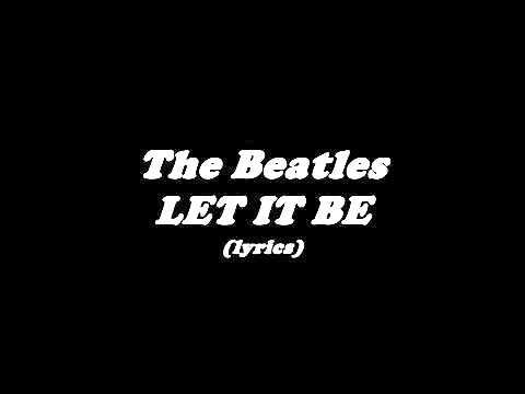 The Beatles|Cover (lyrics song)LET IT BE