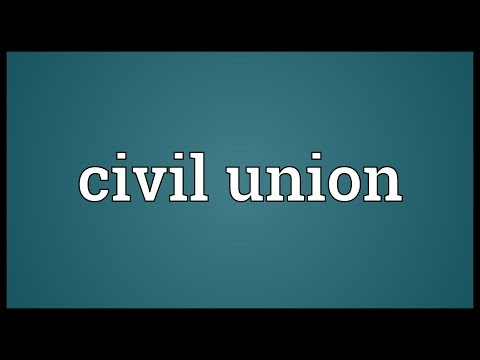 Civil union Meaning