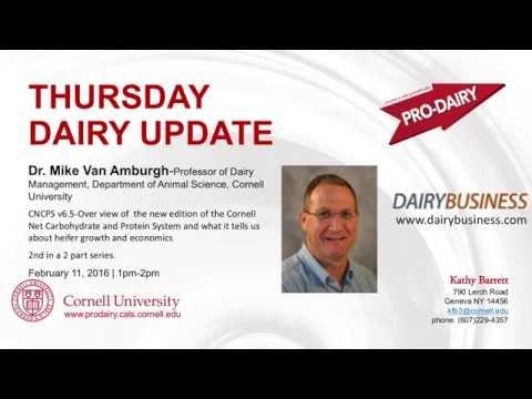 PRODAIRY Thursday Dairy Update Mike VanAmburgh Feb 2016