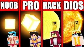 Minecraft: NOOB vs PRO vs DIOS 😱😱 DESAFIO BUILDTUBER Minecraft