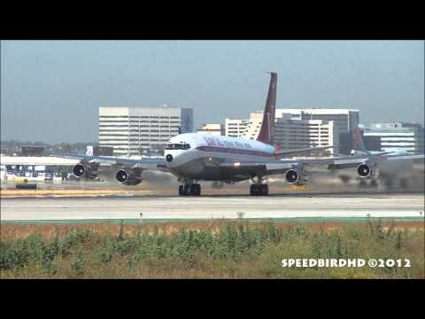 John Travolta's Private Boeing 707-138B [N707JT] Takeoff From Los Angeles