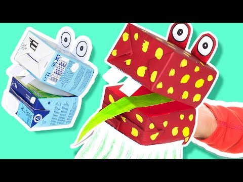 Cardboard Hand Puppet - Craft Ideas for Kids | DIY on Box Yourself