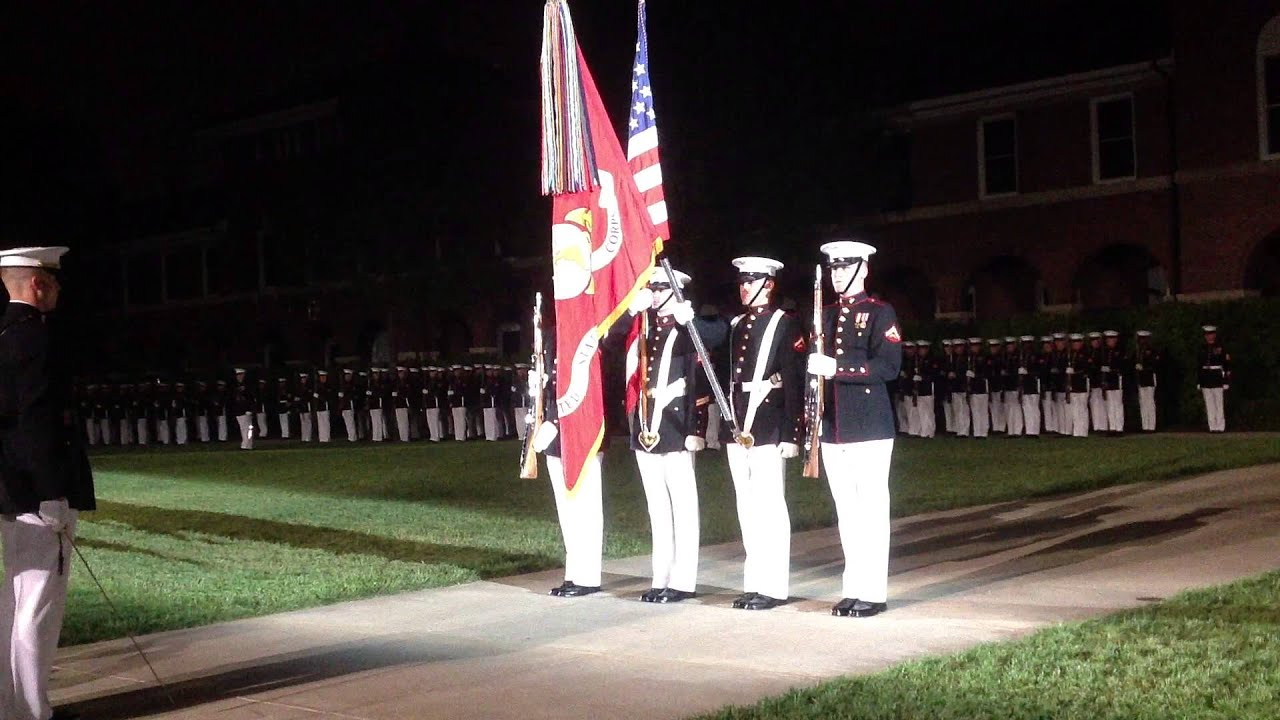 Marine Corps Color Guard 5-3-13 - YouTube