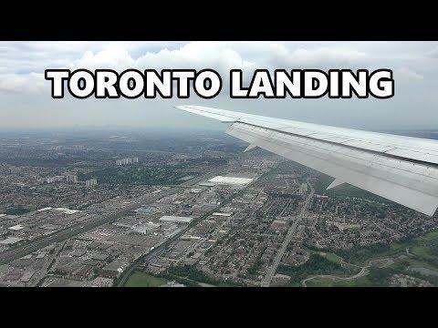 TORONTO LANDING - AIR CANADA AT PEARSON AIRPORT 4K