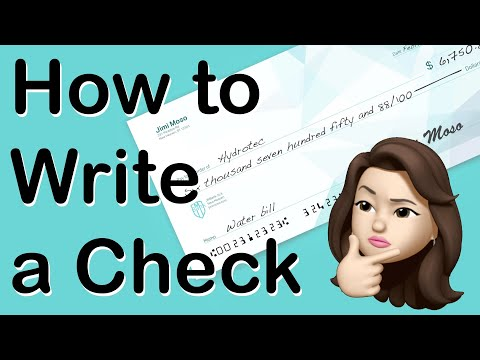 How To WRITE A CHECK | The Right Way To Write Dollars & Cents