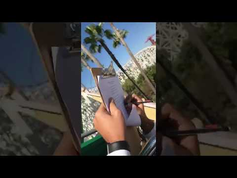 Guy does homework on the launch of California screamin