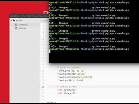 PyGtk Tutorial - Example App