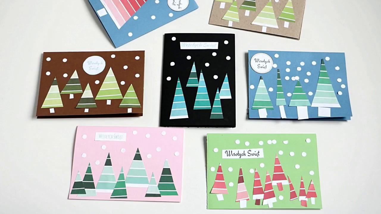Unikalne Kartki bożonarodzeniowe ręcznie robione / DIY Christmas Cards FY84