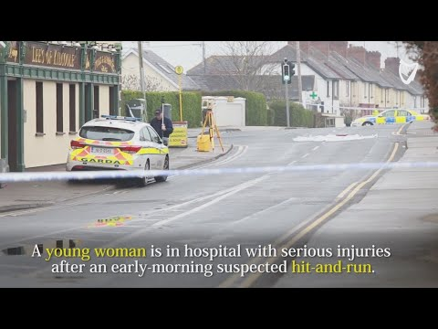 ARCHIVE VIDEO - Scene: Young woman seriously injured in early-morning suspected hit-and-run