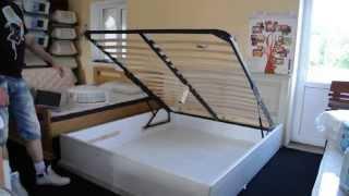 Купить кровать из дуба Элит с подъемным механизмом и бельевым коробом.(, 2014-07-08T14:27:50.000Z)