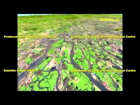 Landsat-7 Fly-through Pearl River Delta clip