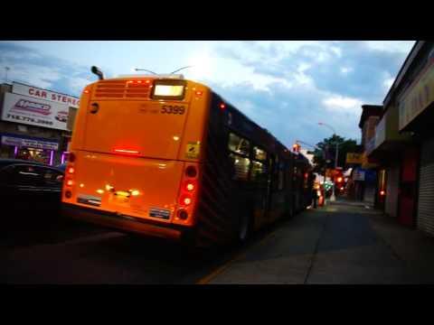 Broome County Transit Bus Action At Binghamton Transi