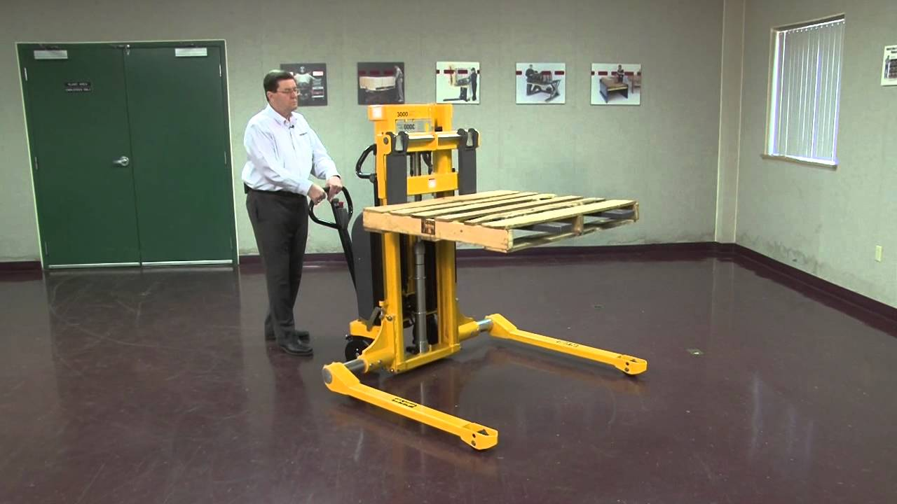 Southworth Straddle Pallet Stacker One Minute Video Youtube