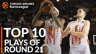 Turkish Airlines EuroLeague Regular Season Round 21 Top 10 Plays