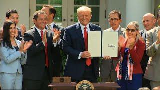 Courting Hispanic voters, Trump creates commission
