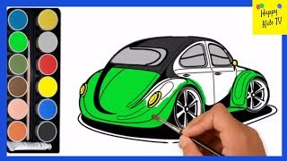 Coloring For Kids -  Car Truck  | Drawing & Painting Car Coloring Pages for Toddlers | Happy Kids TV