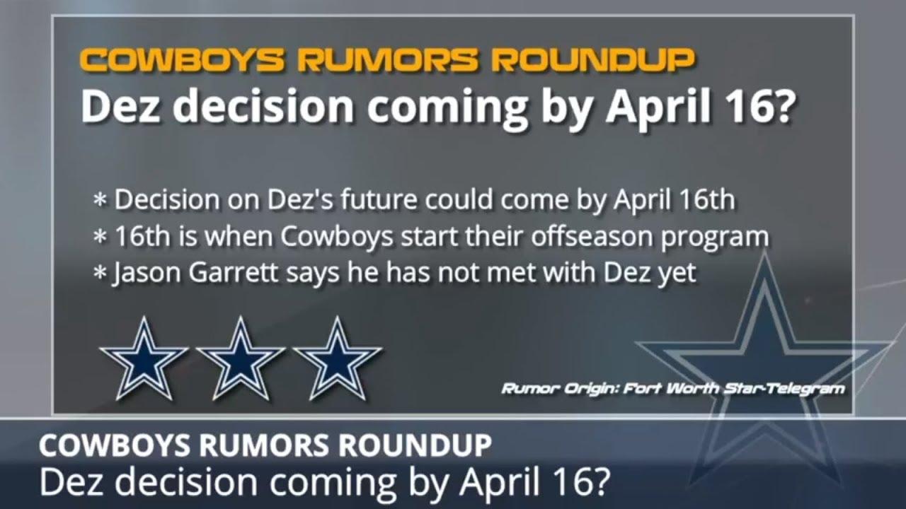 Cowboys Rumors Dez Bryant Decision Deadline La El Collins Position Switch And Nfl Draft Rumors