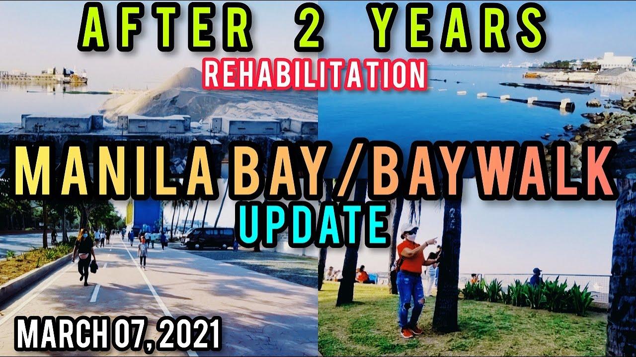 MANILA BAY/BAYWALK REVIEW & UPDATE! AFTER 2 YEARS! WALKING TOUR! U.S EMBASSY TO YACHT CLUB, MANILA.