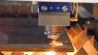 G.WEIKE 1000W fiber laser cutting machine cutting 15mm carbon steel