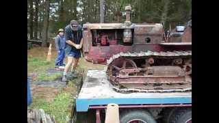 Old bulldozer cold start