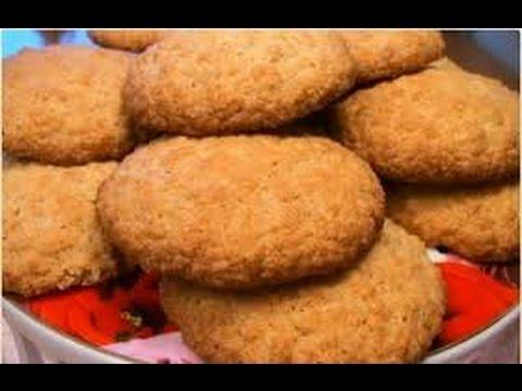 медовые печенья с геркулесом