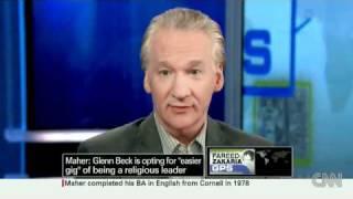 Video CNN: Bill Maher Bashes Glenn Beck And Religion Once Again! download MP3, 3GP, MP4, WEBM, AVI, FLV Juli 2018
