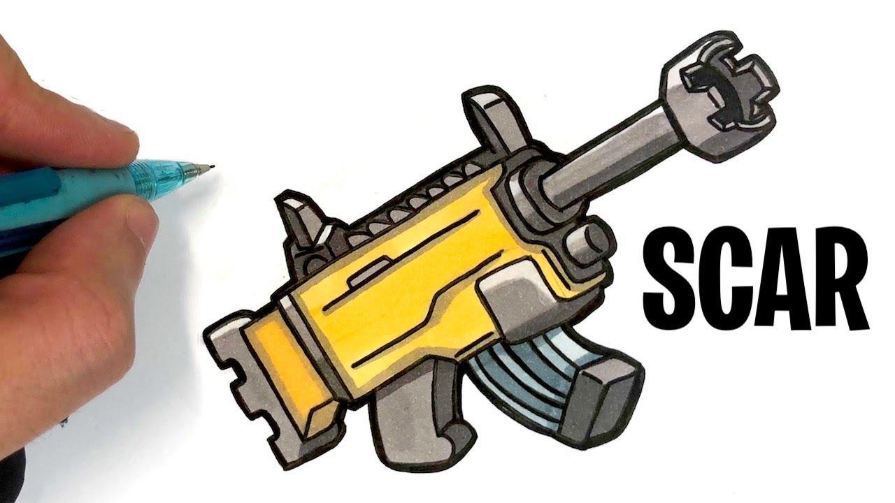 Tuto Dessin Mini Scar Fortnite Arme Battleland