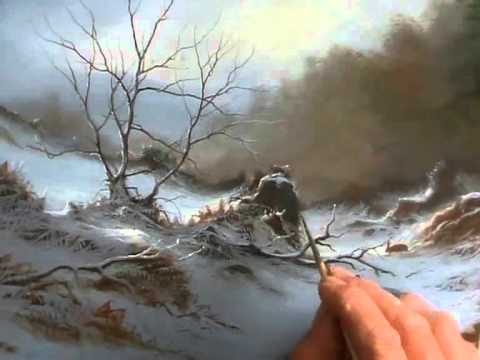 How To Paint Snow Snowy Lane An Oil Painting