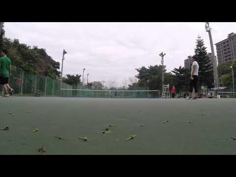 1/7/2015 Taiwan Tennis Jing Mei Park warm up session