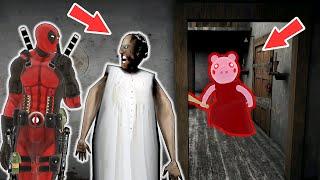 Granny vs Piggy vs Deadpool - funny horror animation parody (part 9)