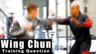Wing Chun Training - wing chun how to deal with a jab cross. Q7