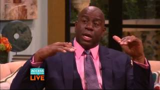 Magic Johnson shares memories of working with MJ (Access Hollywood Live)