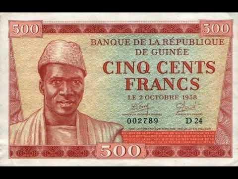 Paper money Guinea franc Guinea - banknote - banknotes