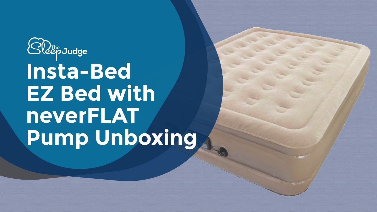 insta bed air mattress Insta Bed EZ Bed With neverFLAT Pump Unboxing   YouTube insta bed air mattress