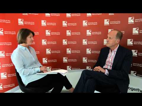 Sir Peter Bazalgette, Chair of Arts Council England, interview at UWE Bristol