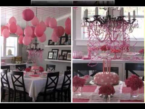 Diy girls birthday party decorations ideas youtube Home decoration for birthday girl