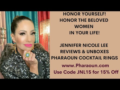 Exquisite Cocktail Ring Unboxing by Jennifer Nicole Lee for Pharaoun.com! Use Code JNL15