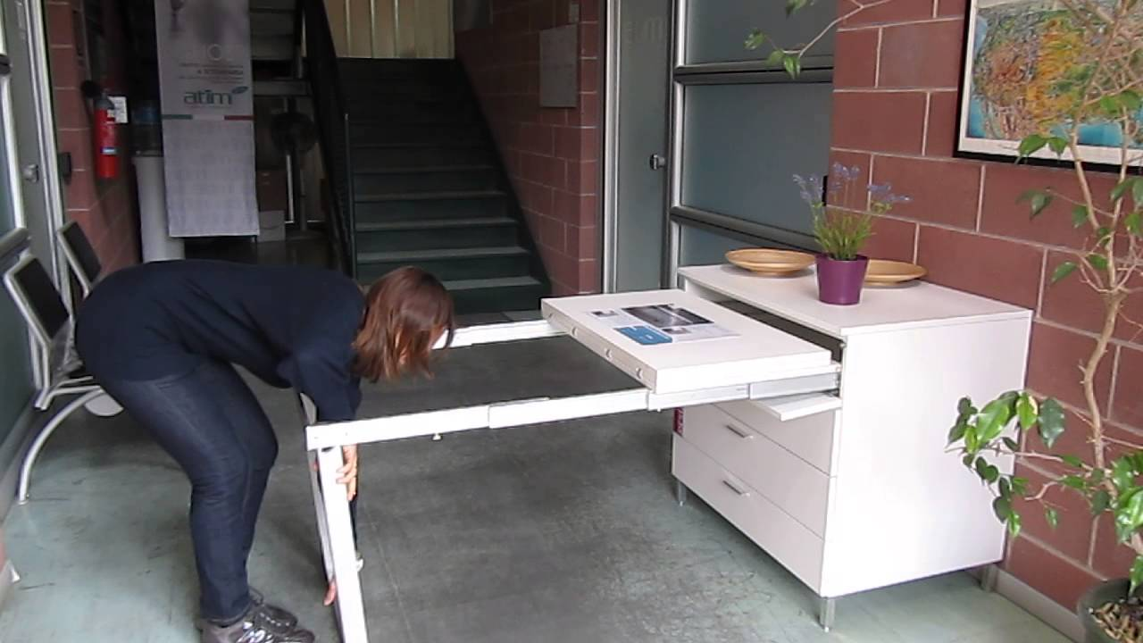 Pull Out Kitchen Table pull out table frame - with legs - 1450 series - youtube