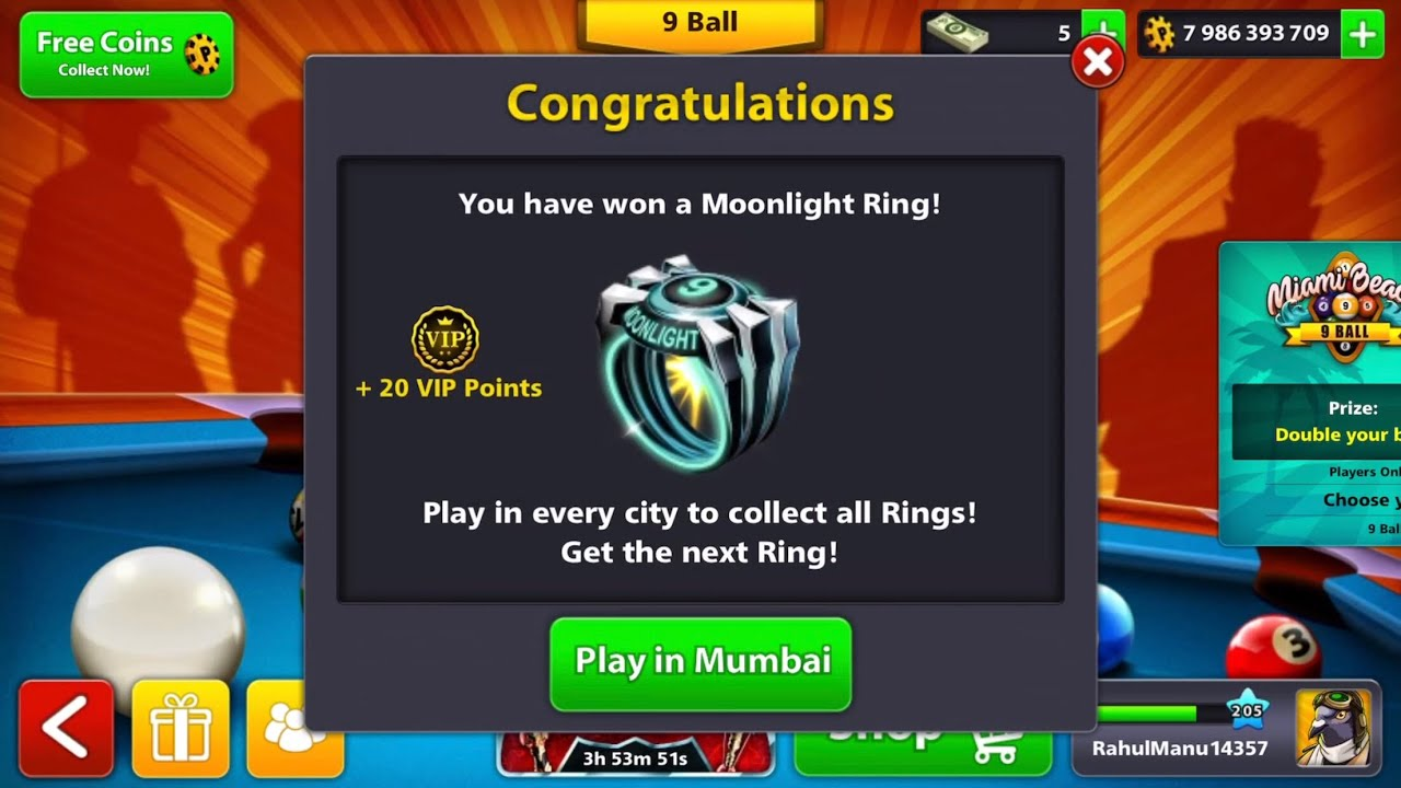 8 Ball Pool - MoonLight 8   9 Ball Rings - Legendary Boxes Opening   Berlin  Highlights d463f96be6db