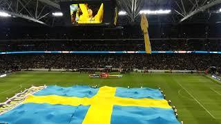 Du Gamla, Du Fria innför VM play-off Sverige-Italien 1-0 på Friends Arena 10. nov. 2017