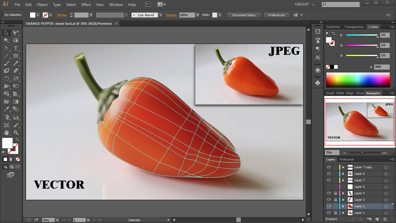 The Mesh Tool - Coloring and Shading - Adobe Illustrator ...