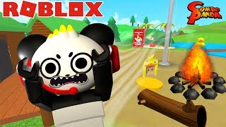 ESCAPE THE ROBLOX SUMMER CAMP OBBY! Let's Play with Combo Panda
