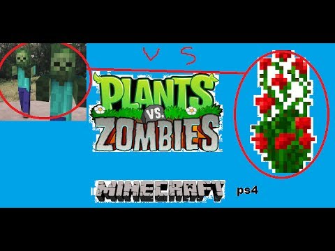 plante vs zombie minecraft ps4 youtube. Black Bedroom Furniture Sets. Home Design Ideas
